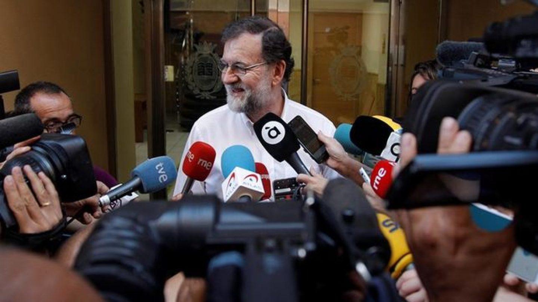 Mariano Rajoy, en su primer día en Santa Pola. EFE.