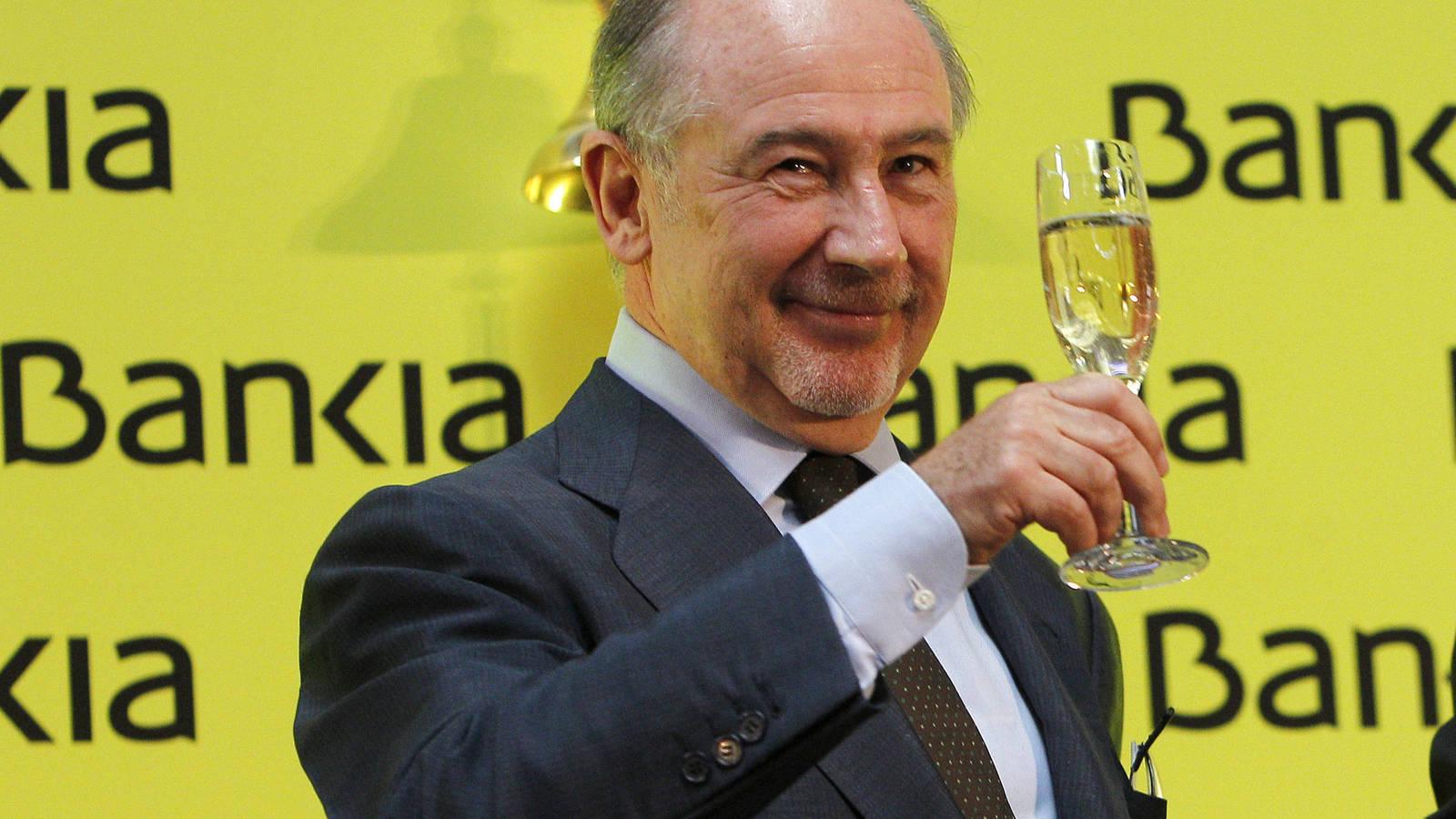Rodrigo Rato, en la salida a bolsa de Bankia en julio de 2011. EFE