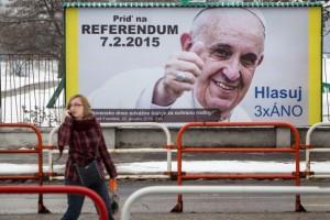 Pápež na bilborde
