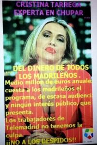 Cristina Tarrega Carteles Telemadrid Tarrega