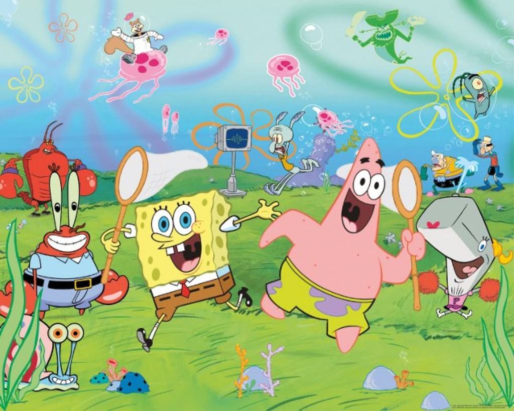 mesmerizing-spongebob-wallpaper-bikini-bottom-party-wallpaper