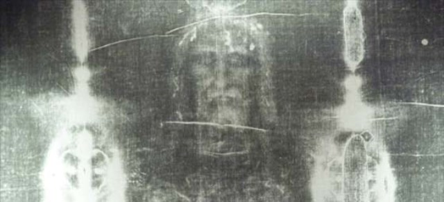 08 Apr 2003, Paris, France --- Detail of Shroud of Turin --- Image by © Deloche Lissac/Godong/Corbis