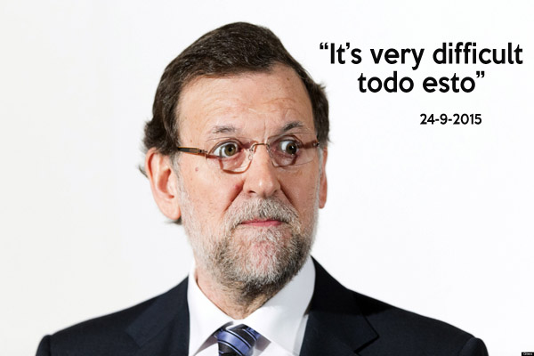 Spain's Prime Minister Mariano Rajoy during the Spain Summit conferences in Madrid, Tuesday, Feb. 12, 2013.