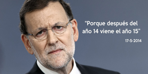 Spain's Prime Minister Mariano Rajoy during a press conference at the MoncloaPalace in Madrid, Spain, Wednesday, Nov. 12, 2014