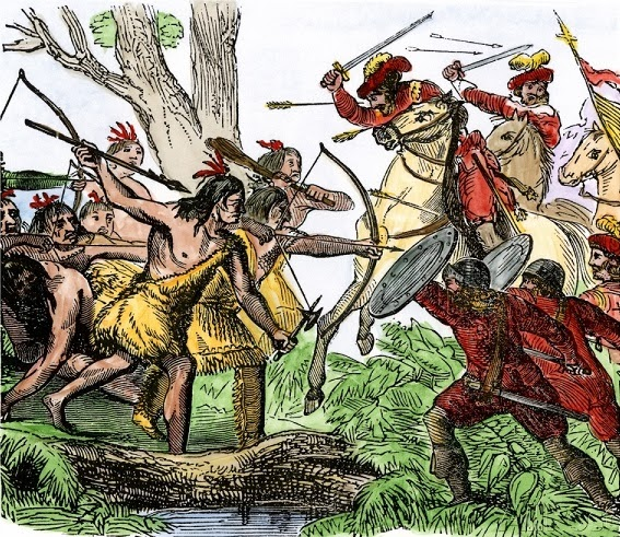 ponce-de-leon-wounded-by-native-americans-in-florida-1521