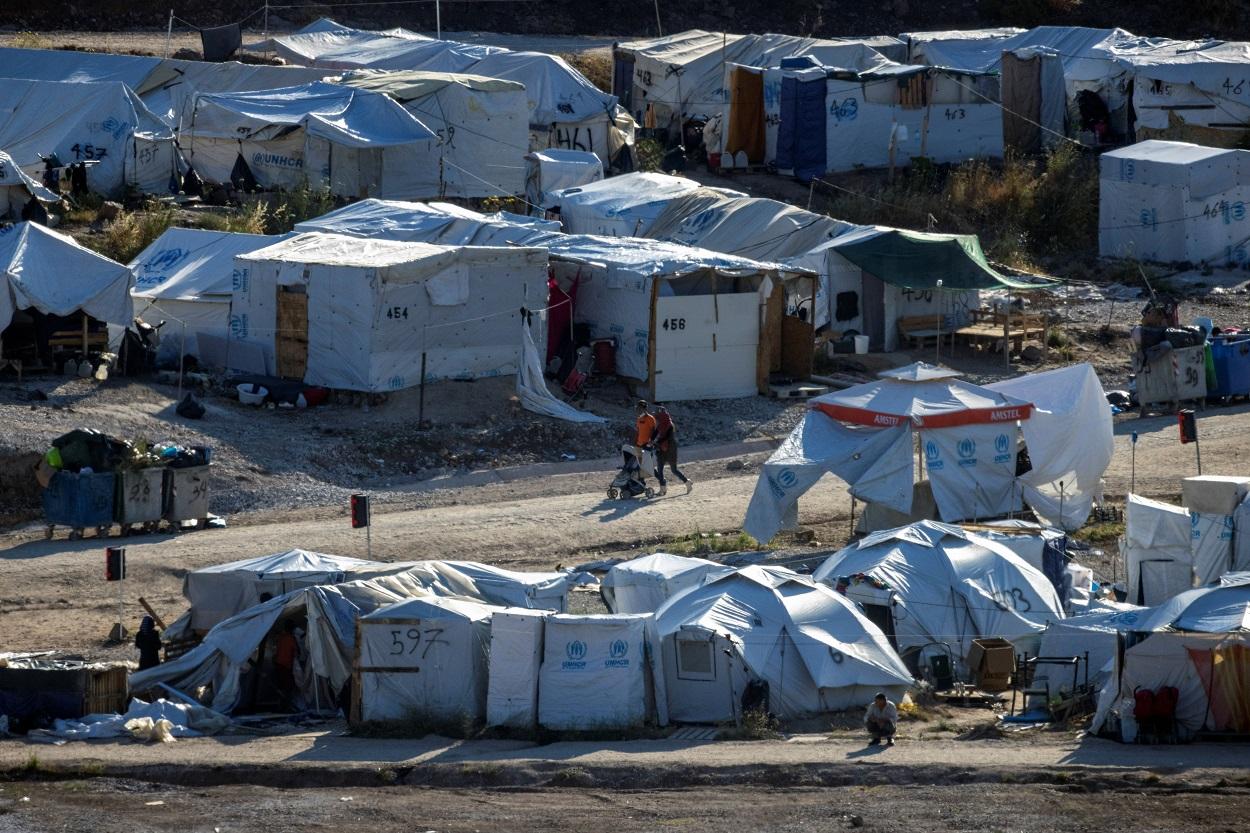 Vista del campo de refugiados Mavrovouni, en la isla griega de Lesbos. REUTERS/Alkis Konstantinidis
