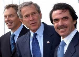 bush aznar y blair