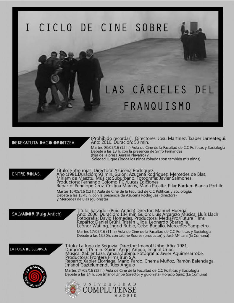 Ciclo de cine Cárceles del franquismo (1)