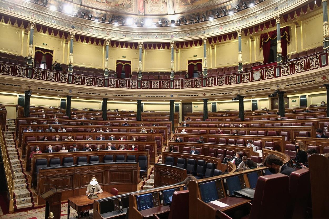 Vista del Hemiciclo del Congreso de los Diputados. E.P./E. Parra/Pool