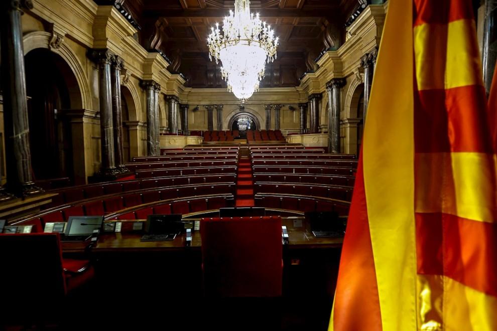 Aspecto del hemiciclo del Parlament de Catalunya. — Quique Garcia / EFE