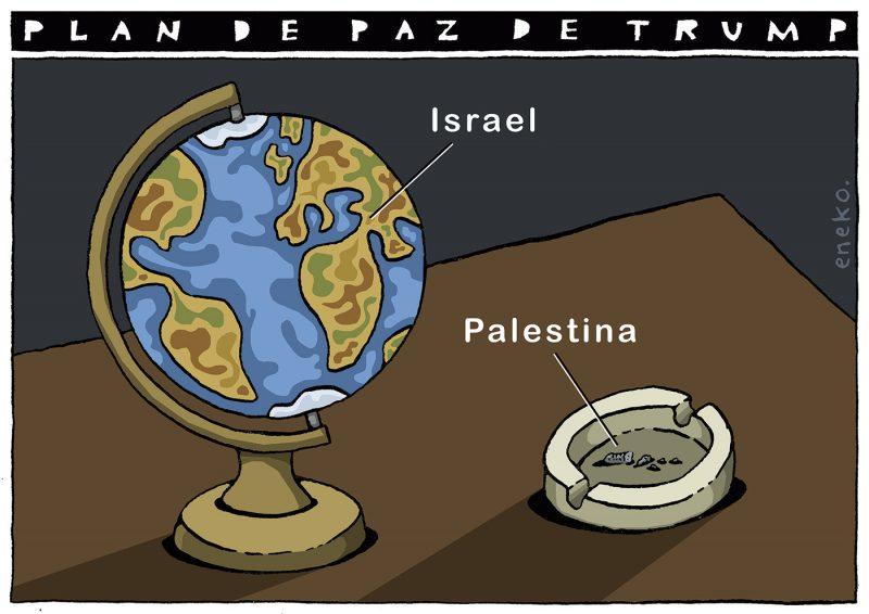 Plan de paz de Trump e Israel contra Palestina