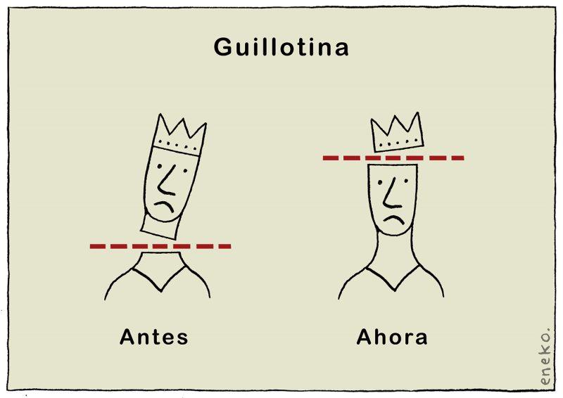 Pasado y futuro de la guillotina