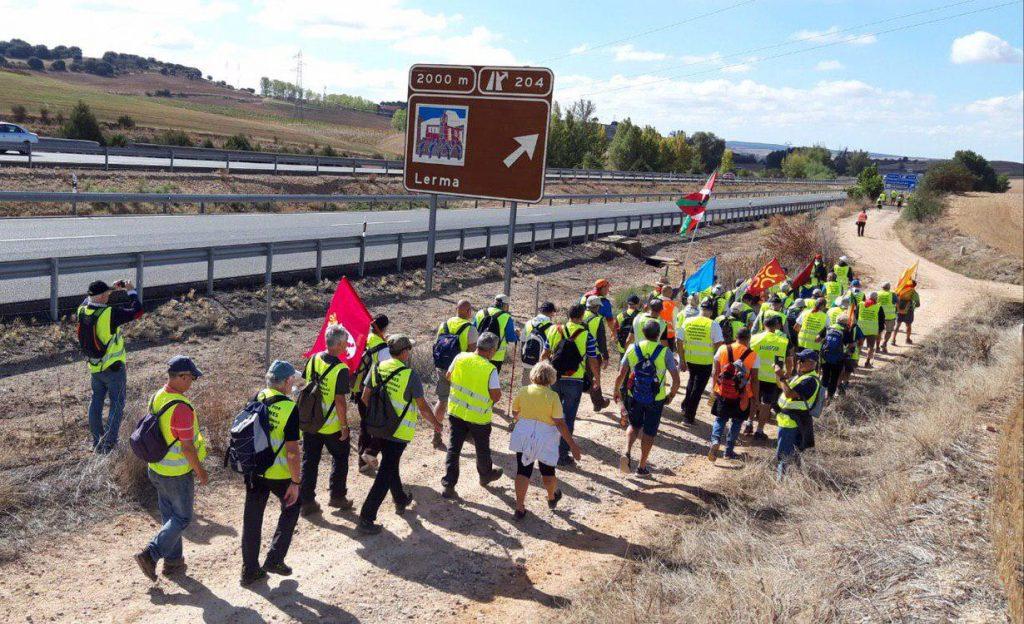 Marcha pensionistas a Madrid. Foto #404 Comunicación Popular