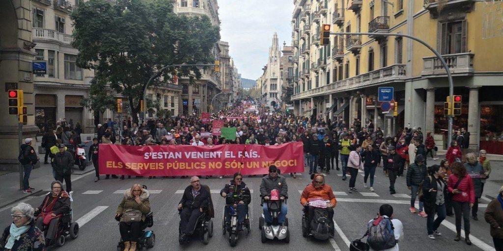Manifestación por los servicios públicos